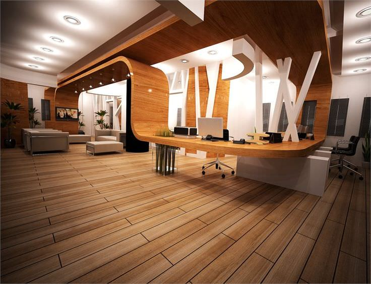 33 office furnitures designs ideas plans design for Office space interior design ideas