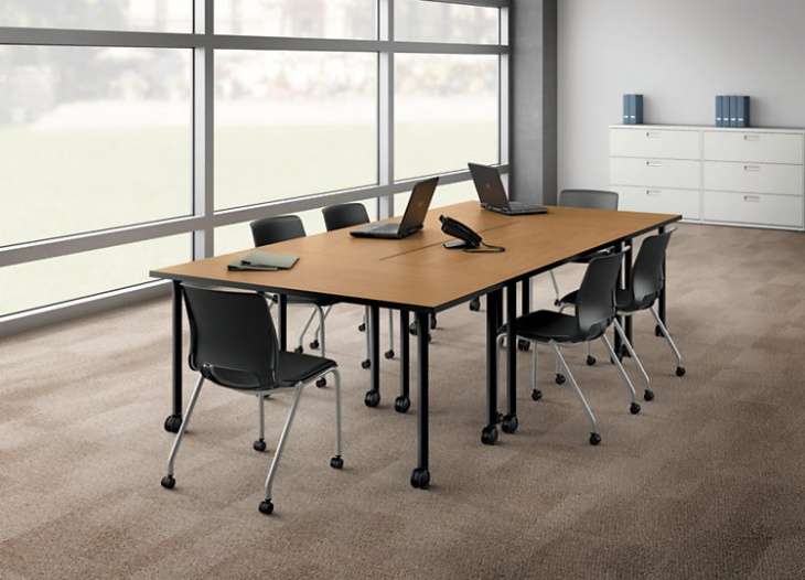 rolling office table design