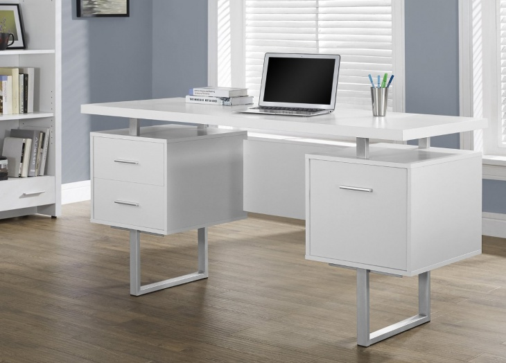 office table with storage cabinets