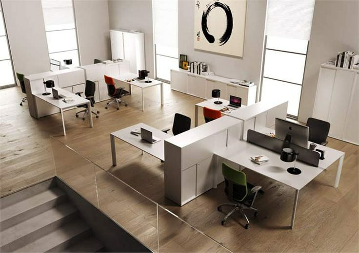 White WorkStation Design