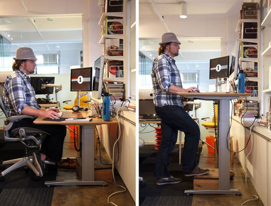 Small Space Standing Desk Design