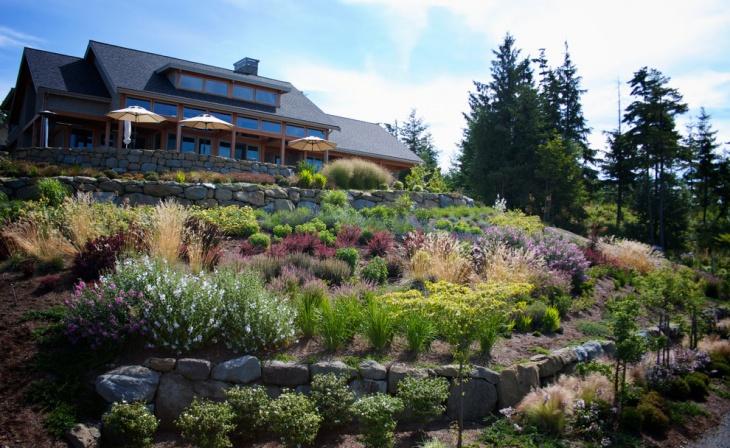 Contemporary Sloped Landscape Design