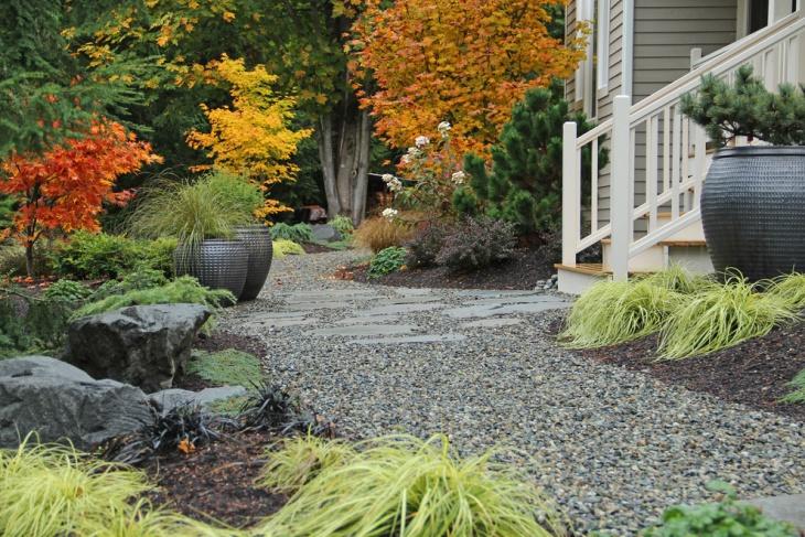 Contemporary Stone Landscape Design