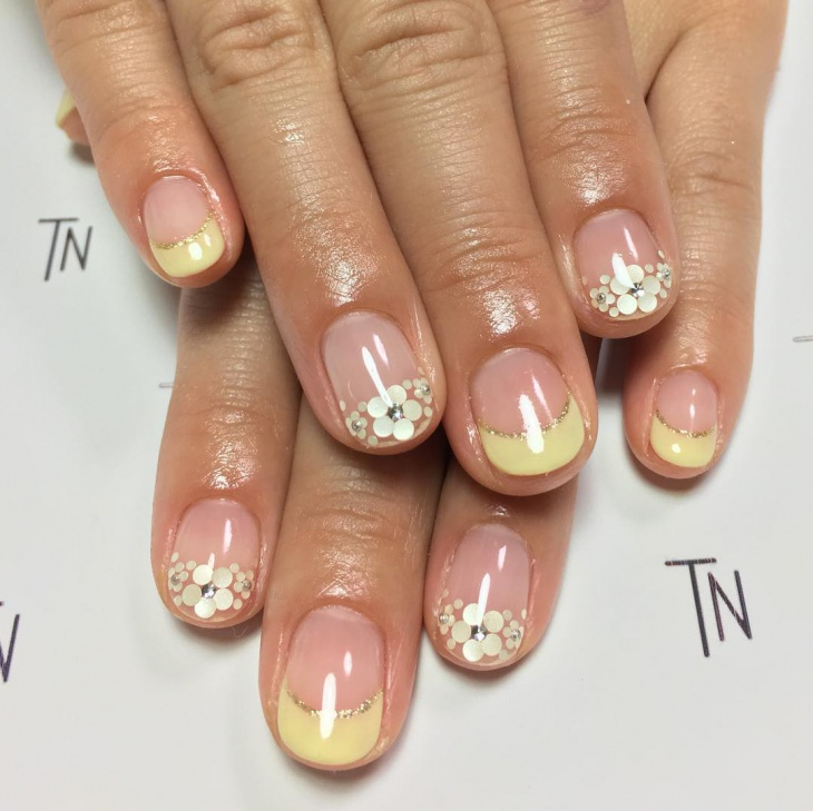 Yellow French Tip Nail Design