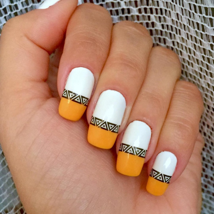 Diy Yellow Nail Art Design