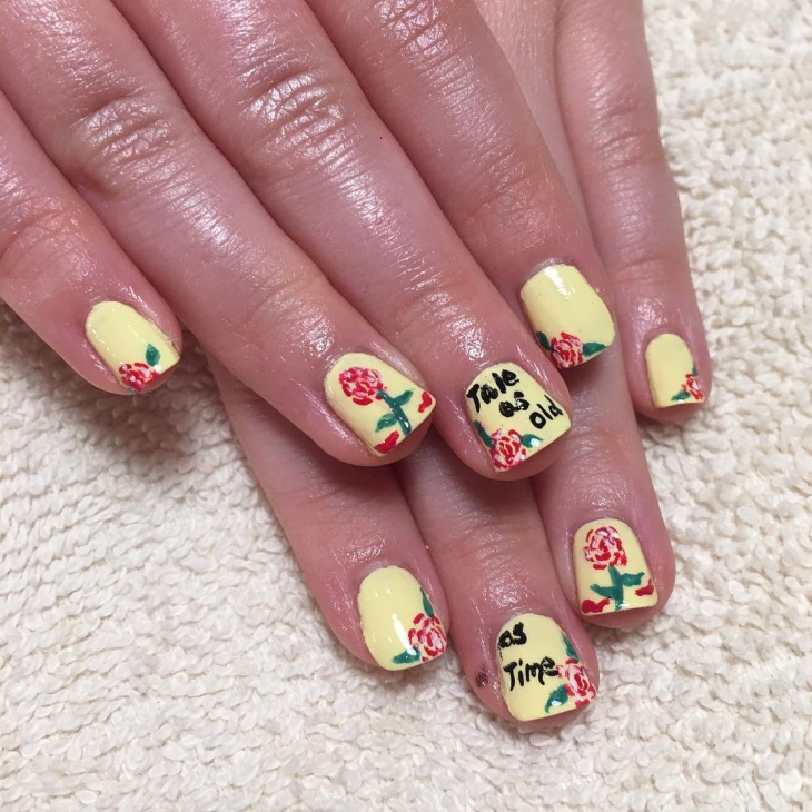 Cool Yellow Nail Art Design