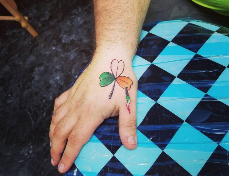 Irish Tattoo Design on Palm