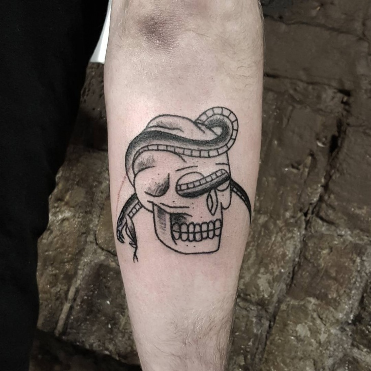 Irish Skull Tattoo Design