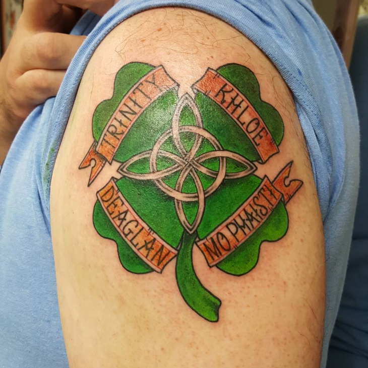 Irish Shoulder Tattoo Design