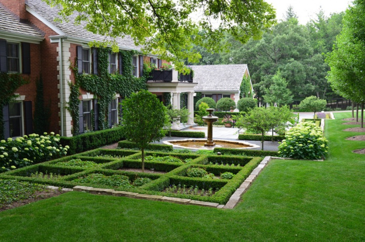 small formal garden design