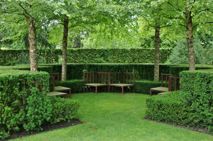 Formal Garden Furniture Idea
