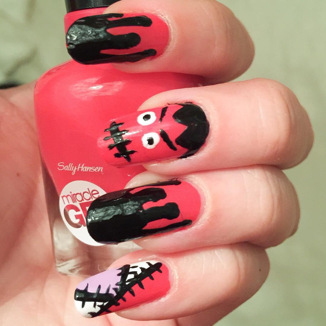 Halloween nail des