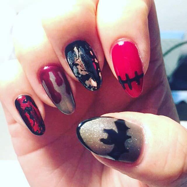 nail art halloween design