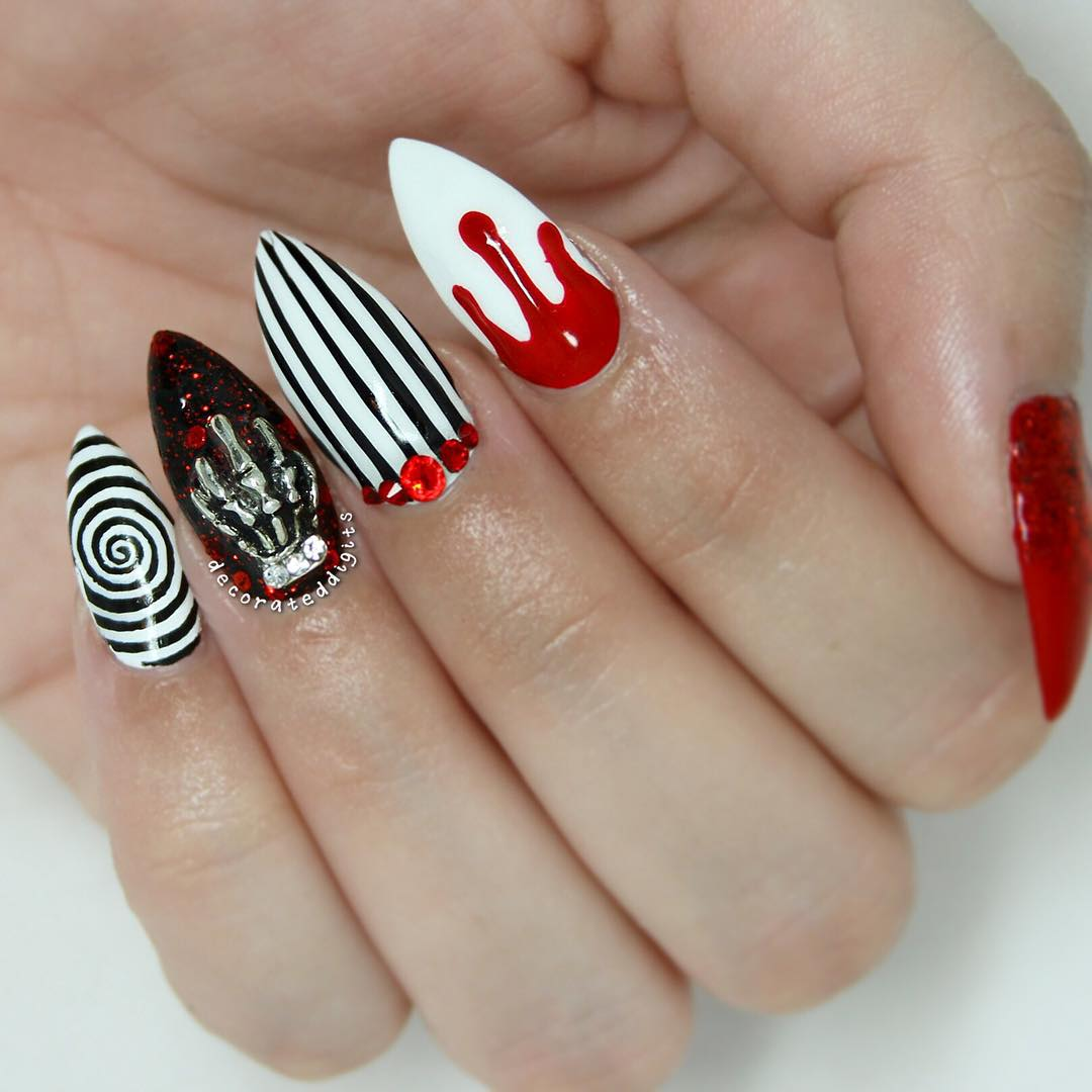20+ Cool Halloween Nail Designs | Design Trends - Premium PSD ...