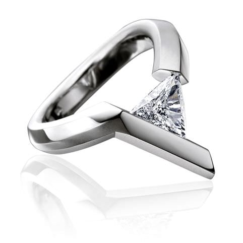 Trillion Shape Diamond Ring Design