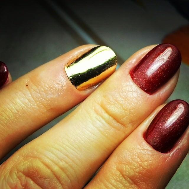 Gold Nail Wrap