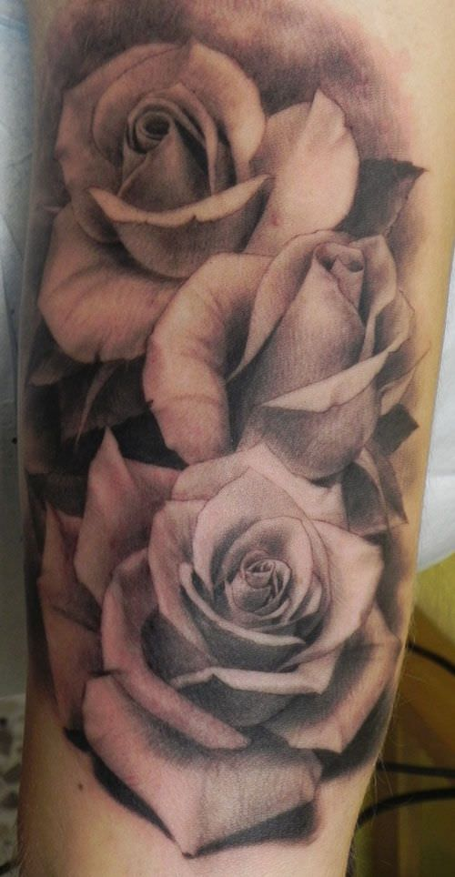 Roses Flower Tattoo Design