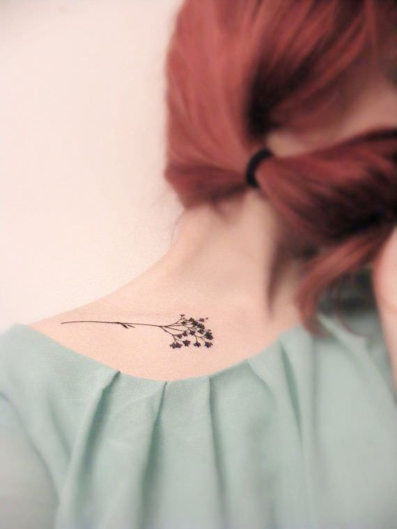 Simple Flower Tattoos Design