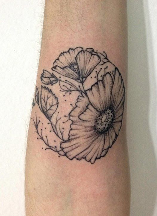 Flower Tattoo Design On Hand