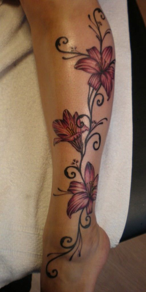 Favorite Love Flower Tattoo Design