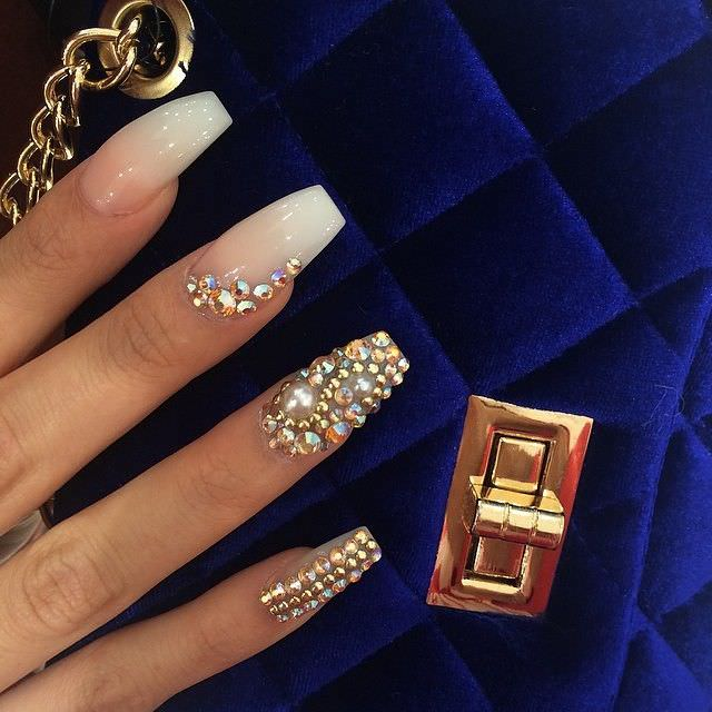 Diamonds Nail Art Design Ideas: 20+ Attractive Gel Nails Design