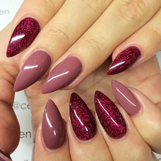 autumn look gel nail design - Gel Nails Designs Ideas