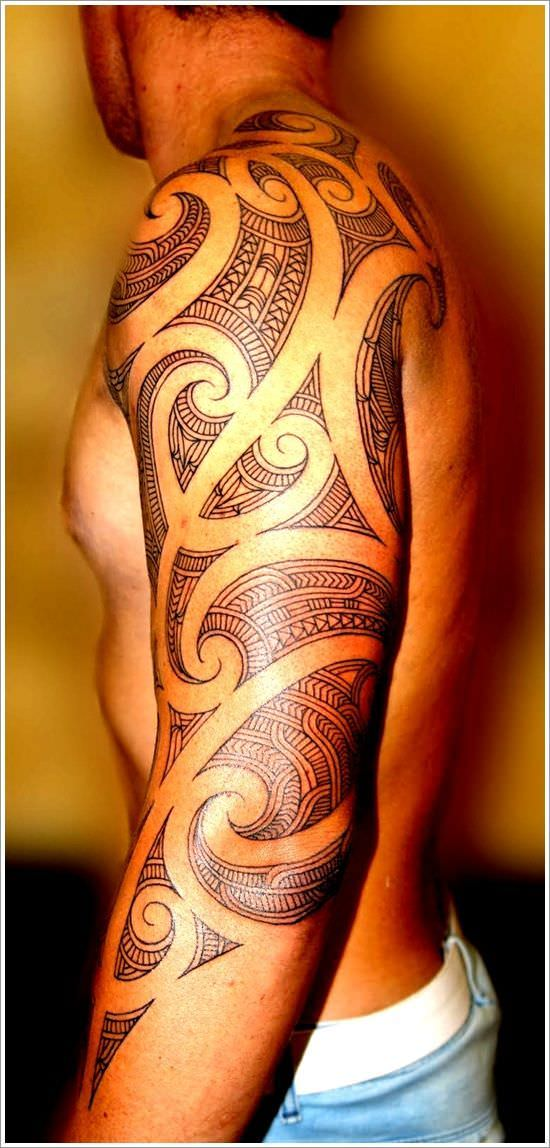 Hot Popular Tribal Tattoo Design