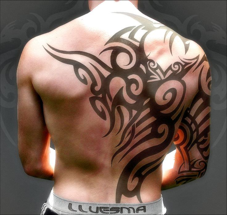 Wow Style Tribal Tattoo Design