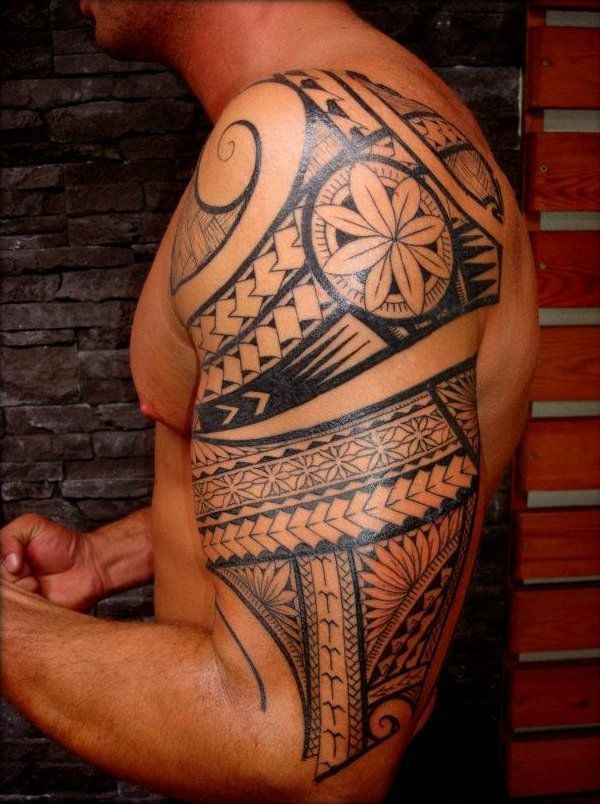 Awesome Sleeve Tribal Tattoo Design