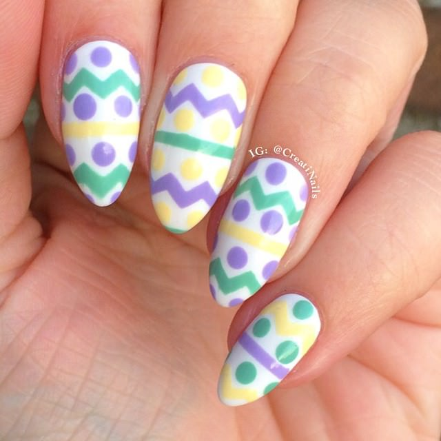 lovely easter nail design
