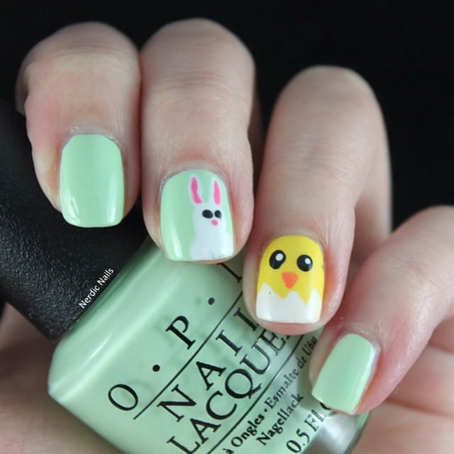 small bunny nail design