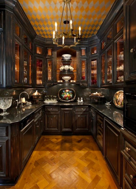 Old World Kitchen Cabinet
