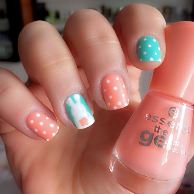 Simple Easter Nailart