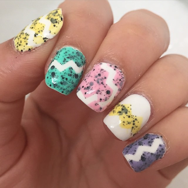 Simple Easter Nail Design