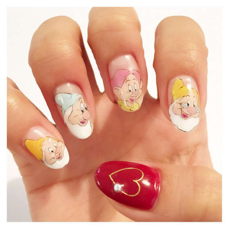 new disney nail design