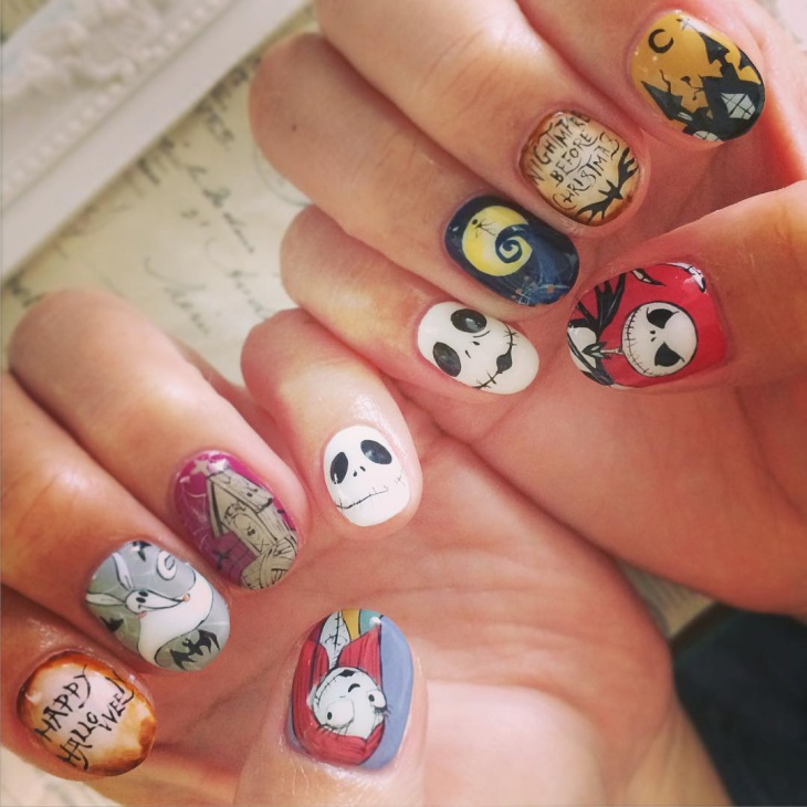 eminy disney nail design1