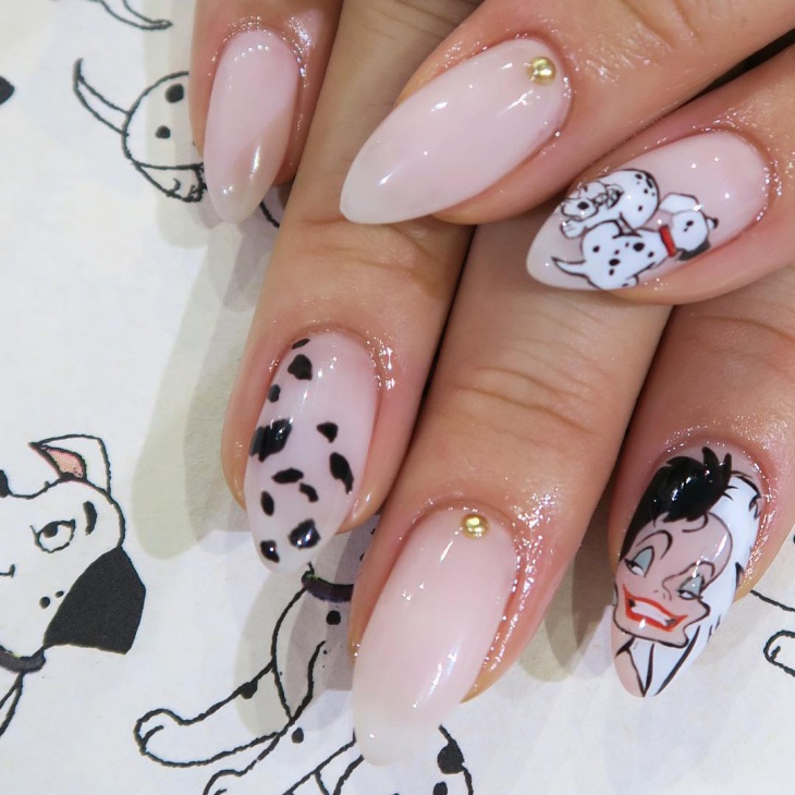 autum disney nail design1