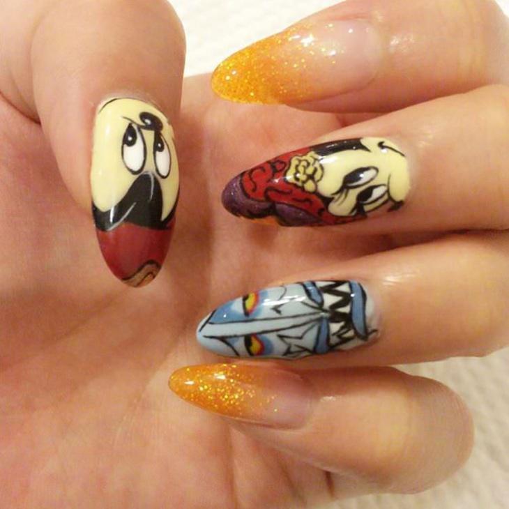 Mik Pic Disney Nail Design