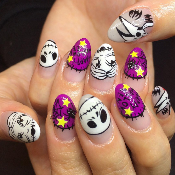 jwell disney nail design