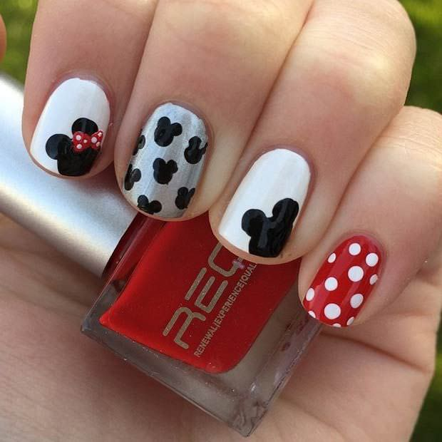 Cute Disney Nail Design