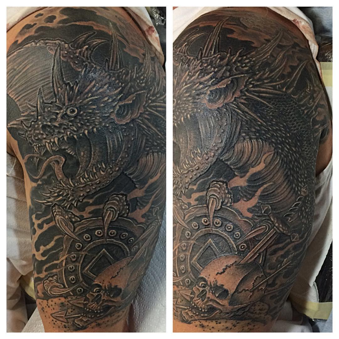 Super Dragon Tattoo Design