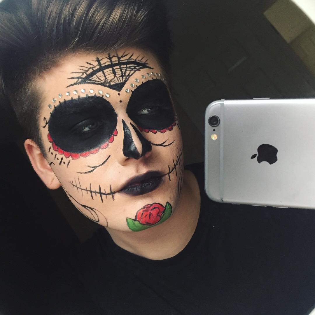 58+ Halloween Makeup Designs Ideas for Women Men and - Mens Halloween Makeup