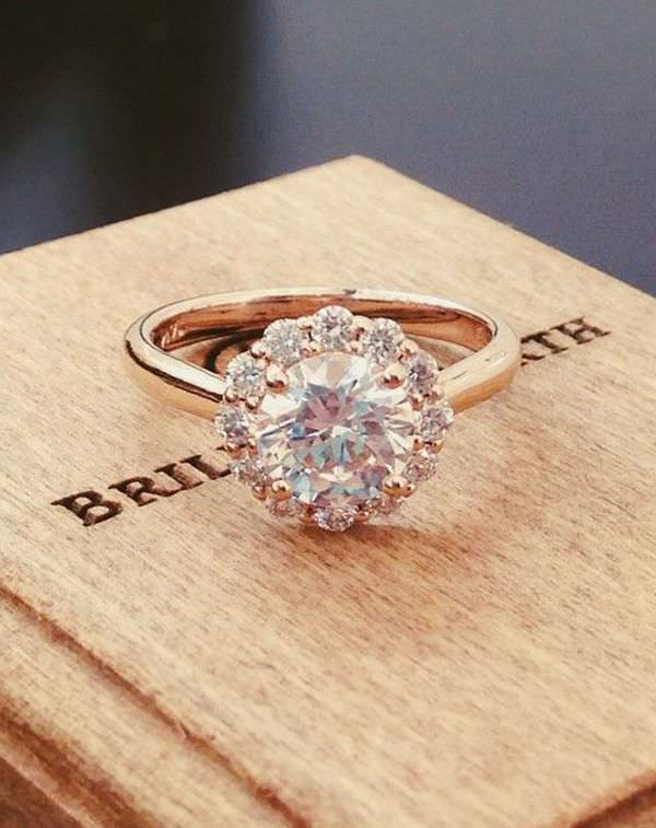 Rose Gold Engagement Ring Design