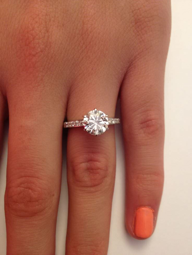 Cut Diamond Engagement Ring