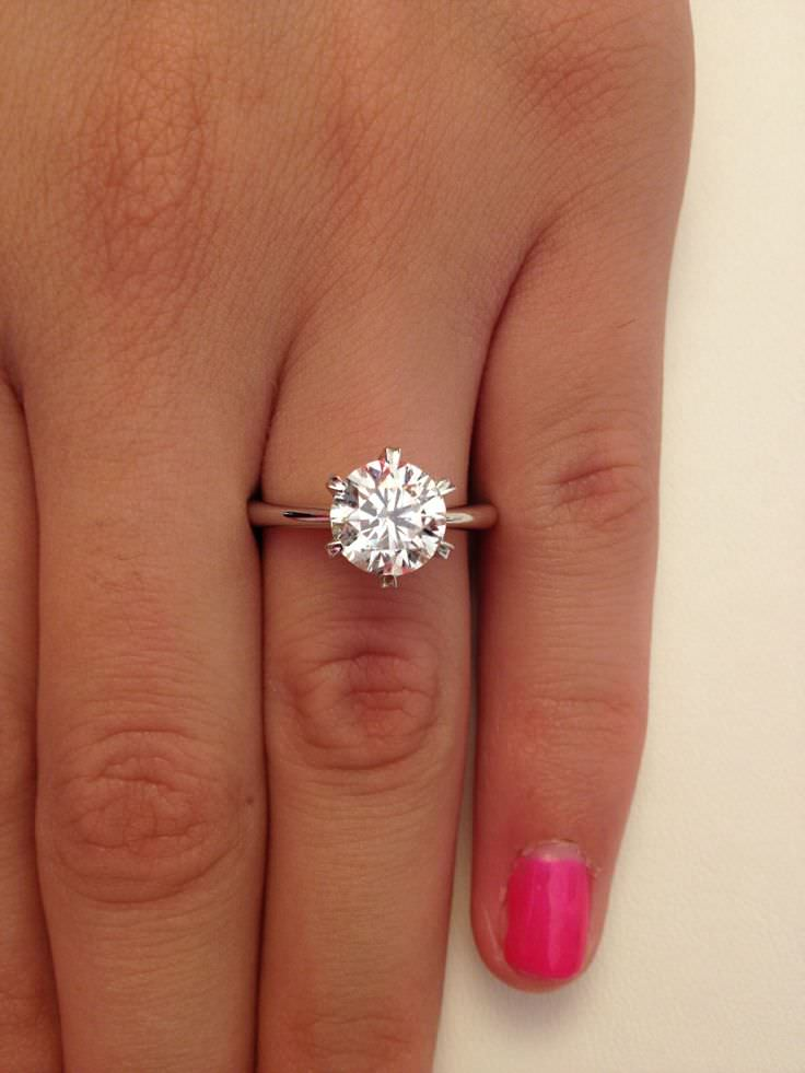 White Engagement Ring