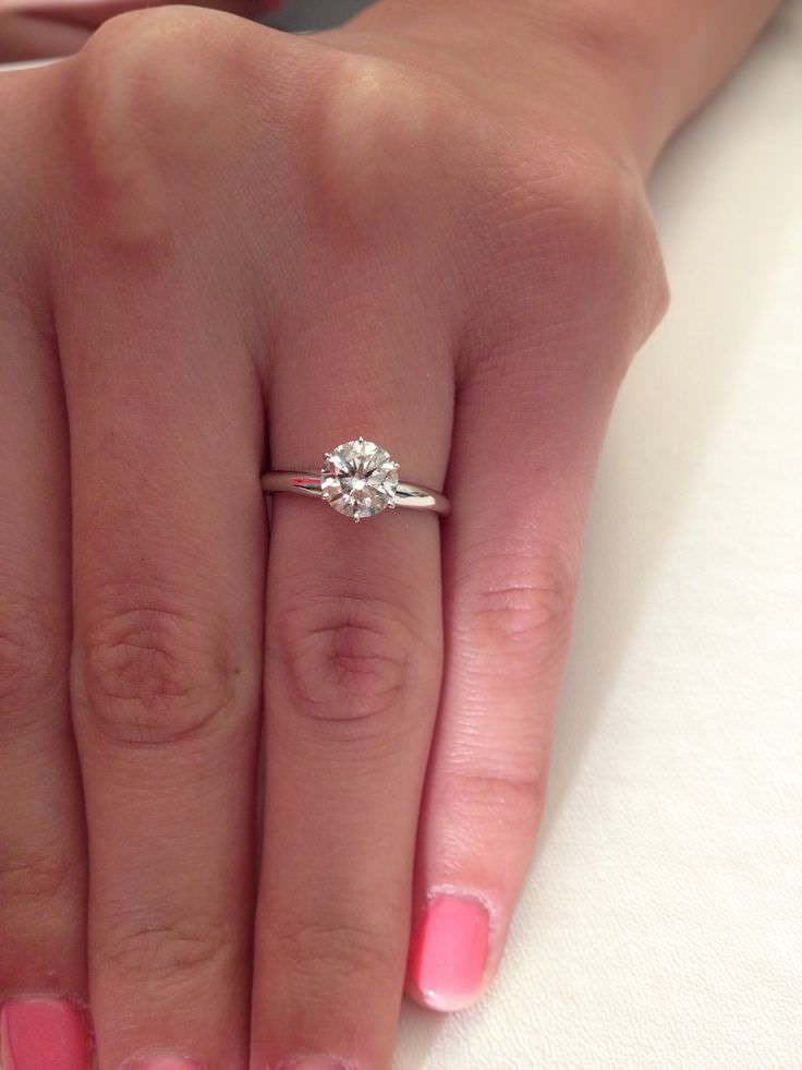 Thin Diamond Engagement Ring Design