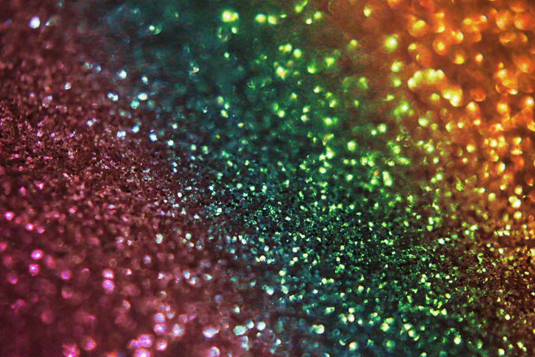 Rainbow Bokeh Glitter Texture