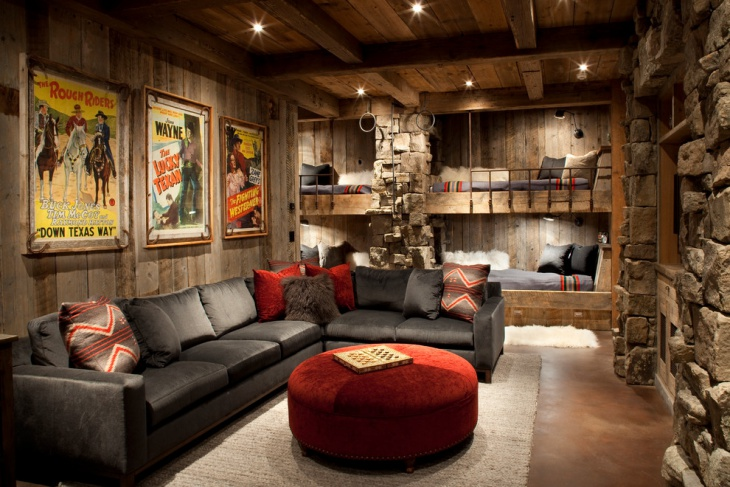 Rustic Family Room Design