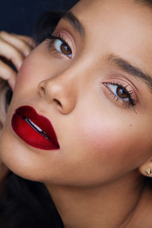 Stunning Red Lip Stick Design