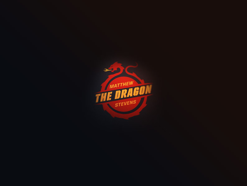 mathew the dragon logo design
